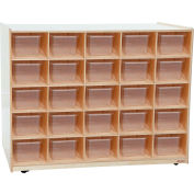 25 Tray / Shelves Island with 25 Clear Trays