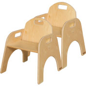 """Wood Designs™ Woodie, 11"""" Seat Height, Carton of Two"""