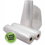 "Vac Sealer Bags, 11"" x 18' Roll 3-Pack (total 11"" x 54')"