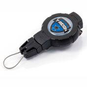 "T-Reign Fishing Retractable Gear Tether 0TR2-211 - Medium 36""Extention Black Belt Clip"