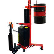Wesco® Power Drive Drum Lift & Manual Tilter 240130 for 55 Gallon Drums - 800 Lb. Capacity