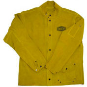 """Ironcat 30"""" Leather Jacket, Golden Yellow, M, All Leather"""