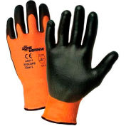 Zone Defense™ Orange HPPE Shell Cut Resistant Gloves, Black Poly Palm Coat, Small - Pkg Qty 12