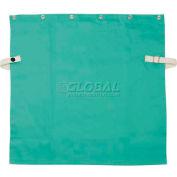 "Ironcat Irontex® Flame Retardant Cotton Bib, Green, 14"" L, All Cotton"