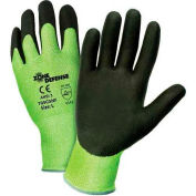 Zone Defense™ Green HPPE Shell Cut Resistant Gloves, Black Nitrile Palm Coat, 2XL - Pkg Qty 12