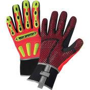 R2 Safety Rigger Gloves 86712/3XL, With Long Neoprene Cuff - Orange, 3XL - Pkg Qty 6