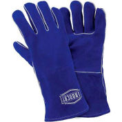 Ironcat Insulated Select Cowhide Welding Gloves, Blue, Women's, All Leather - Pkg Qty 12