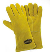 Ironcat Insulated Select Cowhide Welding Gloves, Golden Brown, Large, All Leather - Pkg Qty 12