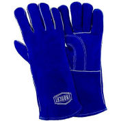 Ironcat Insulated Slightly Select Cowhide Welding Gloves, Blue, Large, All Leather - Pkg Qty 12