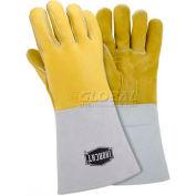Ironcat Top Grain Elk Welding Gloves, Gold, XL, All Leather - Pkg Qty 6