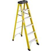 Green Bull Series 2022 Fiberglass Stepladder - 6' 202206