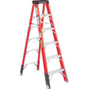 Green Bull Series 2032 Fiberglass Stepladder - 6' 203206