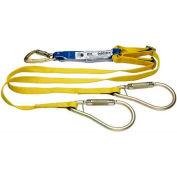 "Werner® DeCoil Twinleg Lanyard, 6'L Adjustable Length, Snaphooks, 2"" Carabiner"