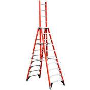 Werner 10' Type 1A Fiberglass Extension Trestle Ladder E7410