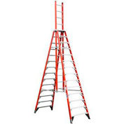 Werner 14' Type 1A Fiberglass Extension Trestle Ladder E7414