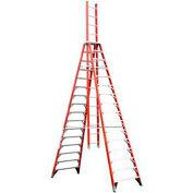 Werner 16' Type 1A Fiberglass Extension Trestle Ladder E7416
