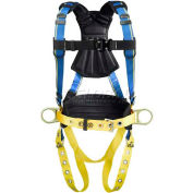 Werner® Blue Armor 2000 Construction Harness, Tongue Buckle Legs, M/L