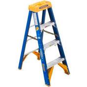 Werner 4' Type 1AA Fiberglass Electricians JobStation Ladder 375 lb. Cap - OBEL04