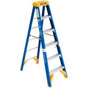Werner 6' Type 1AA Fiberglass Electricians JobStation Ladder 375 lb. Cap - OBEL06