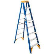 Werner 8' Type 1AA Fiberglass Electricians JobStation Ladder 375 lb. Cap - OBEL08