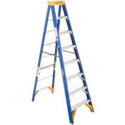 Werner 8' Type 1AA Fiberglass Mechanical JobStation Ladder 375 lb. Cap - OBPT08