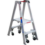 Werner 2' Type 1A Aluminum Dual Access Platform Ladder W/Casters - PT372-4