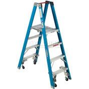 Werner 4' Type 1 Fiberglass Platform Ladder w/ Casters PT6004-4C
