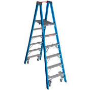 Werner 6' Type 1 Fiberglass Platform Ladder w/ Casters PT6006-4C