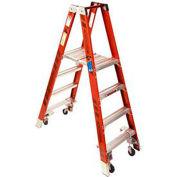 Werner 4' Type 1A Fiberglass Platform Ladder w/ Casters PT7404-4C