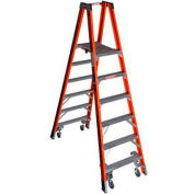 Werner 6' Type 1A Fiberglass Platform Ladder w/ Casters PT7406-4C
