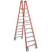 Werner 10' Type 1A Fiberglass Platform Ladder w/ Casters PT7410-4C