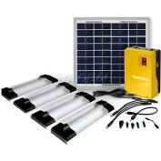 BSS-01006LJ-4 Solar Powerpack 10W Panel 4 x LED Tube Lamp