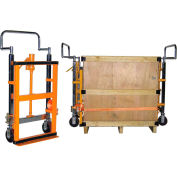 Global Industrial™ (2) Hand Operated Hydraulic Furniture Moving Dollies, 3950 Lb. Capacity