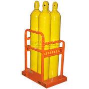 """6 Cylinder Capacity, Cylinder Caddy, 23""""W x 33""""D x 36""""H"""