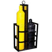 """2 Cylinder Capacity, Secure Dual Cylinder Storage w/Lifting Eye & Firewall, 27""""W x 18""""D x 62""""H"""