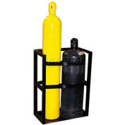 "2 Cylinder Capacity, Secure Dual Cylinder Storage, 27""W x 18""D x 36""H"
