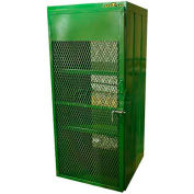 "12 Capacity 20 Lbs. Propane Cylinder, Propane Island Cylinder Cage,32""W x 32""D x 72""H"