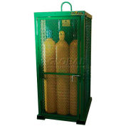 "12 Cylinder Capacity, Movable High-Pressure Stationary Cylinder Firewalled Cage, 32""W x 42""D x 85""H"