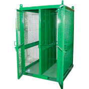 "20 Cylinder Capacity, Movable High-Pressure Stationary Cylinder Firewalled Cage, 50""W x 50""D x 79""H"