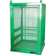 """20 Cylinder Capacity, Movable High-Pressure Stationary Cylinder Cage, 50""""W x 50""""D x 79""""H"""