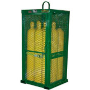 """9 Cylinder Capacity, Movable High-Pressure Stationary Cylinder Cage, 32""""W x 32""""D x 85""""H"""