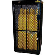"16 Cylinder Capacity, Security Cage on Pallet Bottom, 42""W x 39""D x 74""H"
