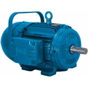 WEG Brake Motor, 00109EP3EBM182T, 1 HP, 900 RPM, 230/460 Volts, TEFC, 3 PH