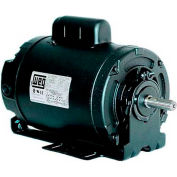 WEG Farm Duty Motor, 00118ES1BRBPFD56, 1 HP, 1800 RPM, 115/208-230 Volts, TEAO, 1 PH