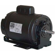 WEG Compressor Duty Motor, 00136OS1BCDB56, 1 HP, 3600 RPM, 115/208-230 Volts, ODP, 1 PH