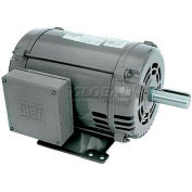 WEG General Purpose Single Phase Motor, 00318OS1D184T, 3HP, 1800RPM, 230V, 184T, ODP