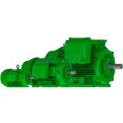 WEG Super Premium Efficiency Motor, 00512EG3EL215T-W22, 5 HP, 1200 RPM, 208-230/460 V,3 PH, L215T