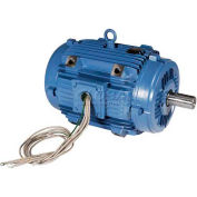 WEG Pad Mount Motor, 00536ET3EPM182/4Y, 5 HP, 3600 RPM, 208-230/460 Volts, 3 Phase, TEAO