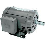WEG General Purpose Single Phase Motor, 00536OS1D184T, 5HP, 3600RPM, 230V, 184T, ODP