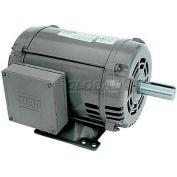 WEG General Purpose Single Phase Motor, 00536OS1E184T, 5HP, 3600RPM, 208-230/460V, 184T, ODP